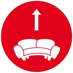 Hoch vom Sofa